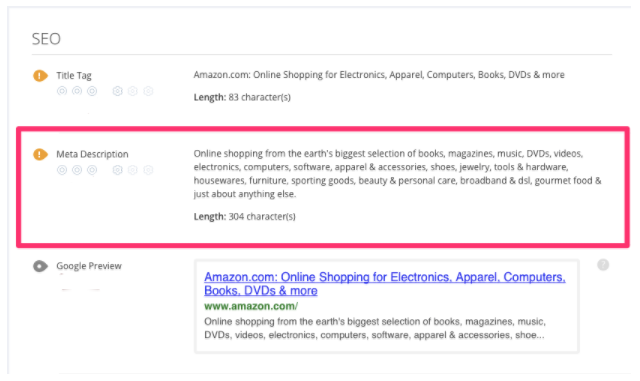 SEO Page Descriptions Examples for Keyword Optimization