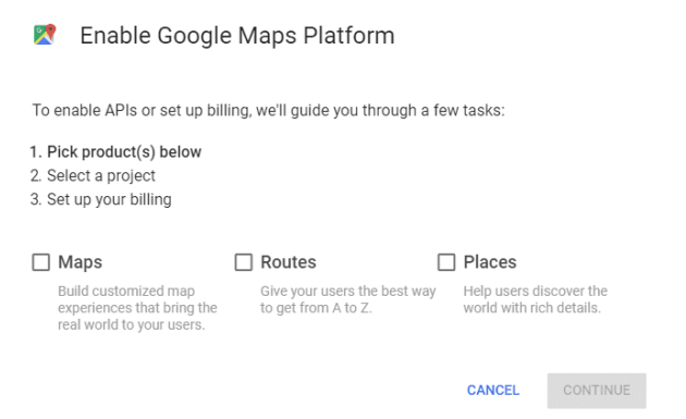 How to Enable Google Maps Platform