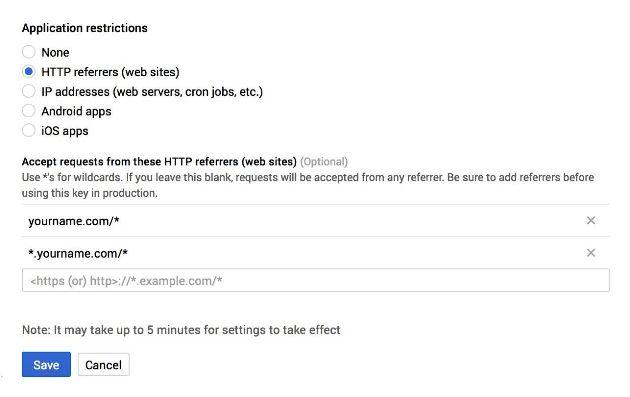 Google Maps API Restrictions