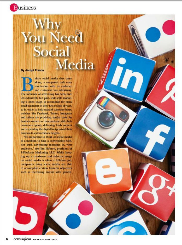 Cobb In Focus Article on Social Media - page 6